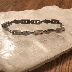 Sterling Silver Dolphins & Link Bracelet